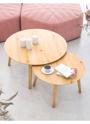 KOMPLET stolików kawowych dębowych Ław24kpl