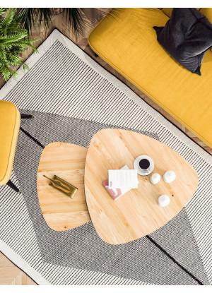 KOMPLET stolików kawowych dębowych Ław25kpl
