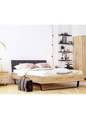 Łóżko dębowe Steel 01