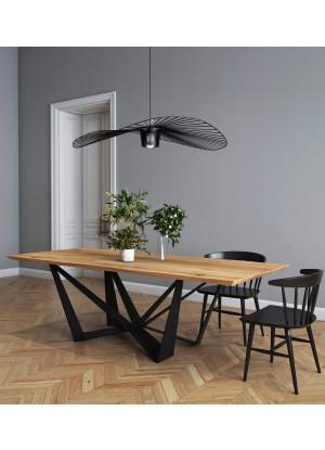 Stół dębowy na metalowych nogach Lukka
