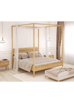 Łóżko dębowe Malaga 02
