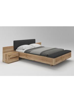 Łóżko dębowe Lewitujące 03 z pojemnikiem