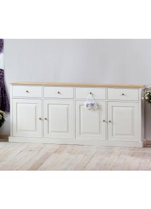 Biała komoda drewniana Nicea 25