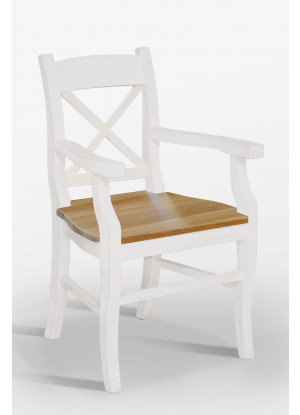 Fotel Nicea 33 X z dębowym siedziskiem