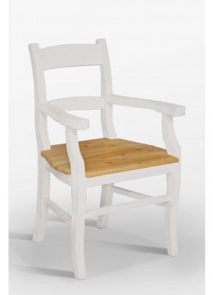 Biały fotel drewniany Nicea 34
