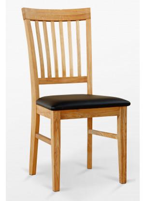 Krzesło dębowe 02 Ekoskóra czarna/biała