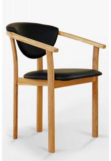 Fotel dębowy C skórzany