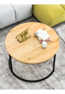 Okrągły stolik kawowy dębowy Ław03 mały