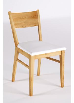 Krzesło dębowe 06 Ekoskóra czarna/biała