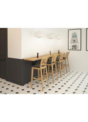 Krzesło dębowe barowe C