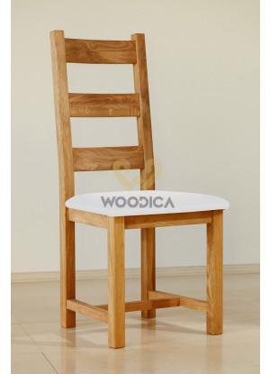 Krzesło dębowe 04 Ekoskóra czarna/biała