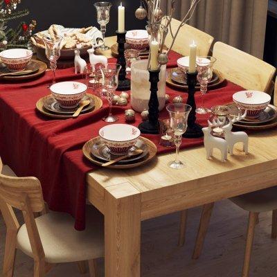 Wigilia przy dębowym stole . Jak wprowadzić świąteczny nastrój do wnętrza?