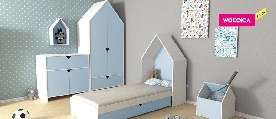 Drewniane meble dziecięce Home błękitny